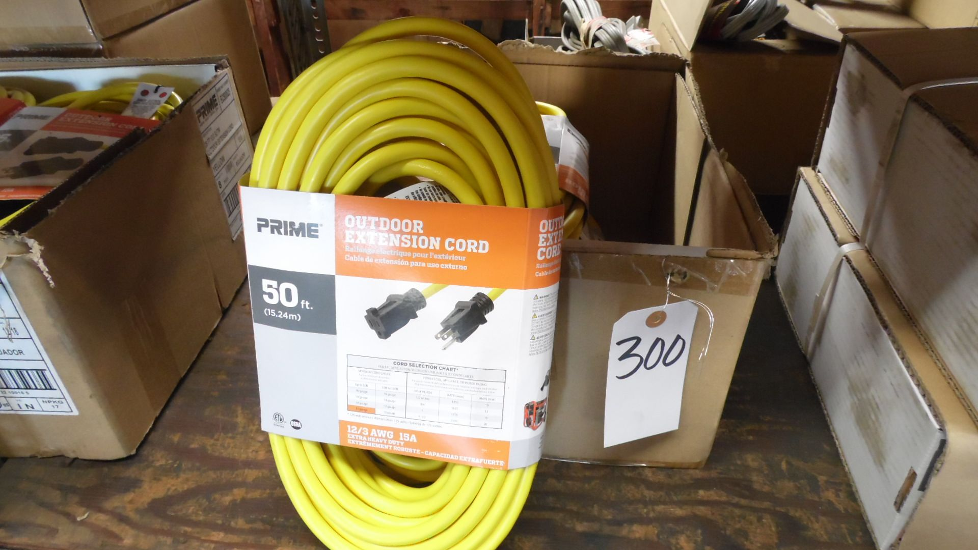 Lot 300 - CASE OF 50 FT. EXTENSION
