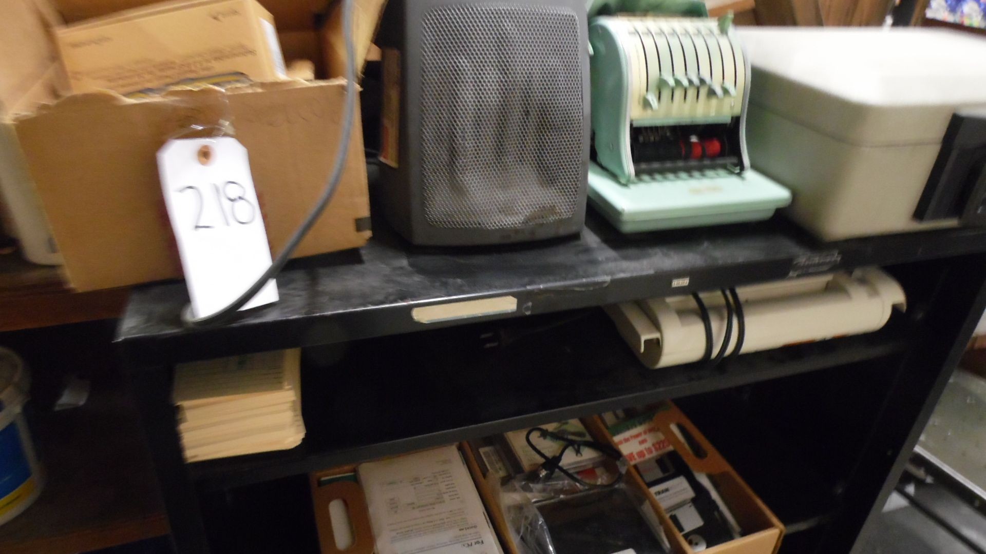 Lot 218 - PHONES / HEATER / SAFE / CHECK WRITER