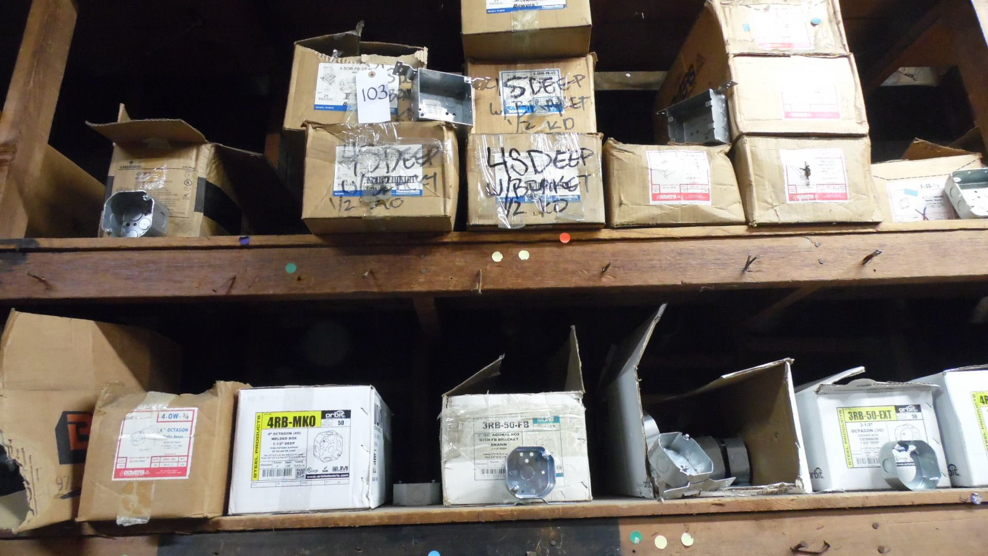 Lot 103 - ASSORTED OUTLET BOXES / HANDY BOX