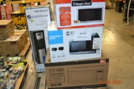 OVER THE RANGE MICROWAVE(1), SAMSUNG MICROWAVE(1), GLACIER BAY WATER DISPENSER(1), MAGIC CHEF