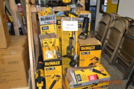 ASSORTED DEWALT GARDEN TOOLS, STRING TRIMMERS, BLOWERS, CHAIN SAW (15PCS)