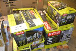 "2300 PSI RYOBI COMPRESSOR(1), 12"" SLDING MITER SAW(1), 1900 PSI ELECTRIC PRESSURE WASHER(1), 2000"