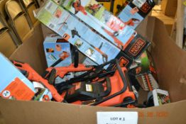 ASSORTED BLACK & DECKER GARDEN TOOLS & LAWN MOWERS, BLOWERS, HEDGE TRIMMERS++ (13 PCS)