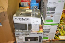 ASSORTED APPLIANCES (12PCS)MICROWAVES, EVAPORATIVE HUMIDIFIER, WATER DISPENSERS, TOWER FANS, FLOOR