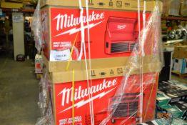 """46"""" MILWAUKEE 8 DRAWER STEEL STORAGE CABINET (2)"""