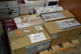 ASSORTED BRANDS AND SIZES CEILING FANS (5)