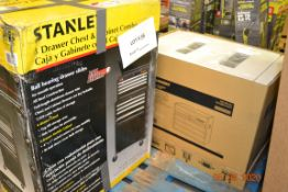 """26"""" HUSKY 5 DRAWERTOOL CHEST(1), STANLEY 8 DRAWER CHEST AND CABINET COMBO(1)"""
