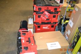 ASSORTED MILWAUKEE PACK-OUT LARGE TOOL BOX, ORGINIZERS, TOOL TOTE (5)