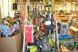 ASSORTED GAS TRIMMERS, CHAIN SAWS++(APROX. 27 PCS.)