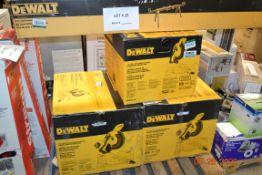 """DEWALT 12"""" DOUBLE BEVEL COMPOUND MITER SAW(2), DEWALT 10"""" SINGLE BEVEL COMPOUND MITER SAW(1), DEWALT"""