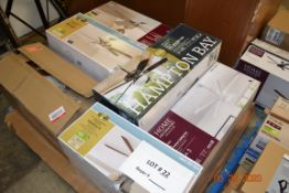 ASSORTED BRANDS AND SIZES CEILING FANS (6)