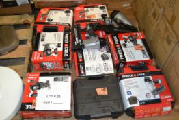 PORTER CABLE-COIL ROOFING NAILER/FINISHING NAILER KIT/PIN NAILER KIT AND MORE (10 ITEMS TOTAL)