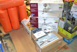 (6) ASSORTED BRAND AND SIZES CEILING FANS