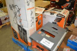 RIDGID-MITER SAW STAND/PANCAKE AIR COMPRESSOR/QUIET COMPRESSOR/TABLE SAW