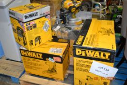 DEWALT-TABLE SAW/AIR COMPRESSOR KIT/CHOP SAW/COMPOUND MITER SAW