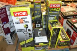 RYOBI BLOWER/HEDGE TRIMMER/STRING TRIMMER/GAS CHAINSAW AND MORE OVER 12 ITEMS