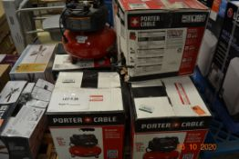(6) PORTER CABLE 6 GALLON AIR COMPRESSOR