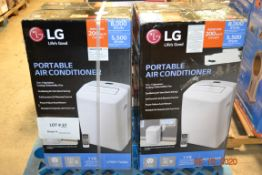 (2) LG PORTABLE AIR CONDITIONERS 8,000 BTU