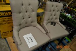 (2) SAFAVIEH UPHOLSTERED CHAIRS