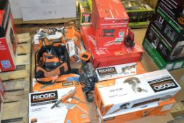 RIDGID-TWIST SANDER/MULTI TOOL KIT/COLLATED SCREWDRIVER/COMPOUND HAMMER DRILL DRIVER KIT/AND MORE