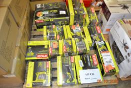 RYOBI-DUAL FUNCTION INFLATORDEFLATOR/JOBPLUS BASE WITH MULTI ATTACHMENTS/VARIABLE SPEED DRILL/6
