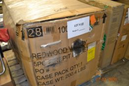 PALLET OF 5 PC FIRE PIT SET (MISSING BOX 2 OF 2 TABLES)