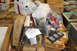 PALLET OF CHRISTMAS ITEMS LIGHTS, ORNAMENTS, APP LIGHTS DECORATIONS, INFLATABLES AND MORE