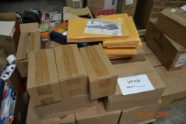 PALLET OF FOLDERS AND ENVELOPES, THERMAL ROLLS