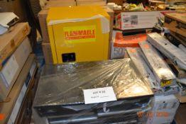 HUSKY TOOL CART/ STEEL FLAMMABLE CABINET WITH KEYS