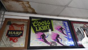 BEER MIRRORED SIGNS