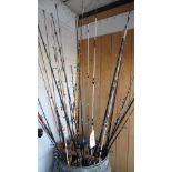 ASSORTED FISHING RODS (NO BARREL)