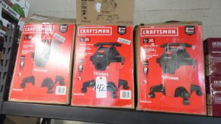CRAFTSMAN WET / DRY VACS (QTY.3)