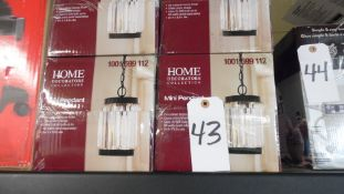 HOME ASSORTED MINI PENDANT LIGHTS (NEW)