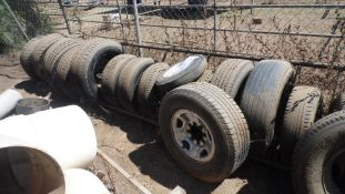 ASSORTED TIRES w/ RACK ( QTY 30 )