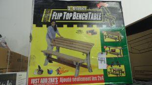 FLIP TOP BENCH TABLE (NO WOOD)