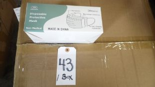 DISPOSABLE MASKS BOX OF 50 [Up to 10 boxes available. This is by the box. 50 masks per box.]