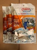 Anna Home Vacuum Storage Bags. Durable and Reusable (3 Jumbo) Travel Hand Pump Included.