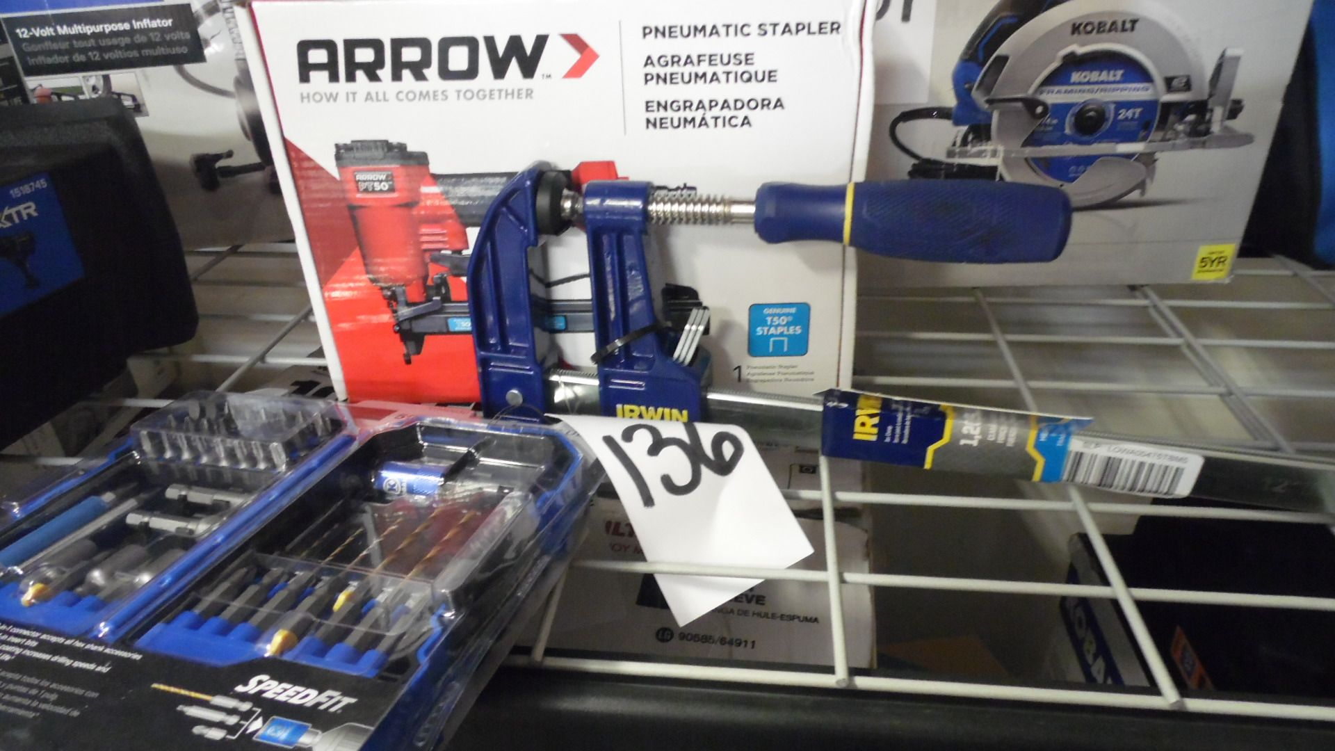 Lot 136 - ARROW STAPLER / CLAMP / DRILL BIT SET
