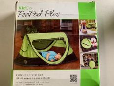 KidCo PeaPod Plus CHILDREN'S TRAVEL BED (GREEN) QTY: By the each. 2 available.