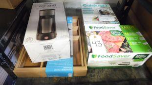 FOOD SAVER, CHOPPER, INSTA COFFEE
