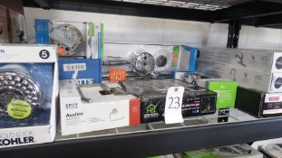 ASSORTED SHOWER HEADS & FAUCETS