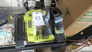 RYOBI AIR STRIKE w/ BATTERY & CHARGER (Tested, works}