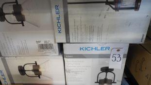 KICHLER CEILING FIXTURE (QTY 4)