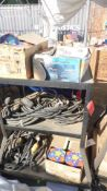 MARKERS, WEB TV ASST., LARGE ELECTRIC CORDS (NO CART)
