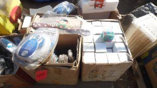 HANGERS, BOX CLOCKS, CERAMIC DUCK, 100 FT. BNC CABLES, PLASTIC CUPS