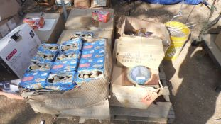 PALLET OF MR. ALL BUST TOY, PEACE CANLDE, JELLY BAGS, ASSORTED TOY'S