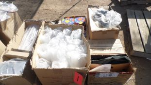 PALLET OF CROSS PLANTERS, CUPS, MARKERS, TERMINLA LIFTERS, WATER LAMP