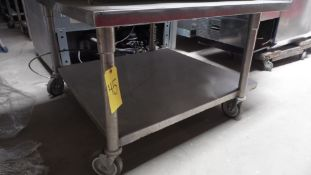 """39"""" ROLLING STAINLESS TABLE"""
