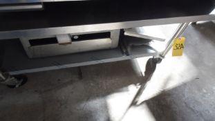 STAINLESS STEEL TABLE w/ WHEELS