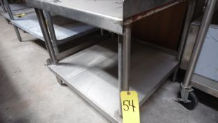 """28"""" X 28"""" STAINLESS STEEL TABLE"""